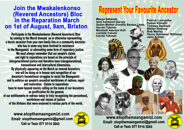 Afrikan Ancestors Reparations March (A4)