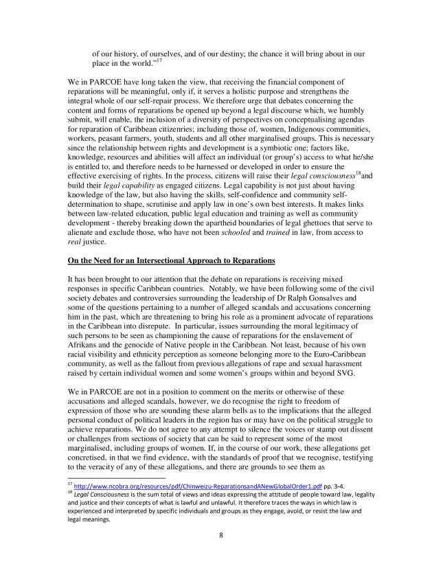 PARCOE CARICOM REPARATIONS POSITION PAPER-08
