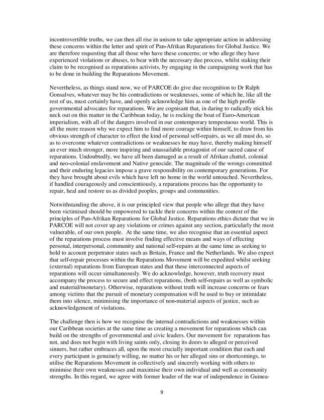PARCOE CARICOM REPARATIONS POSITION PAPER-09