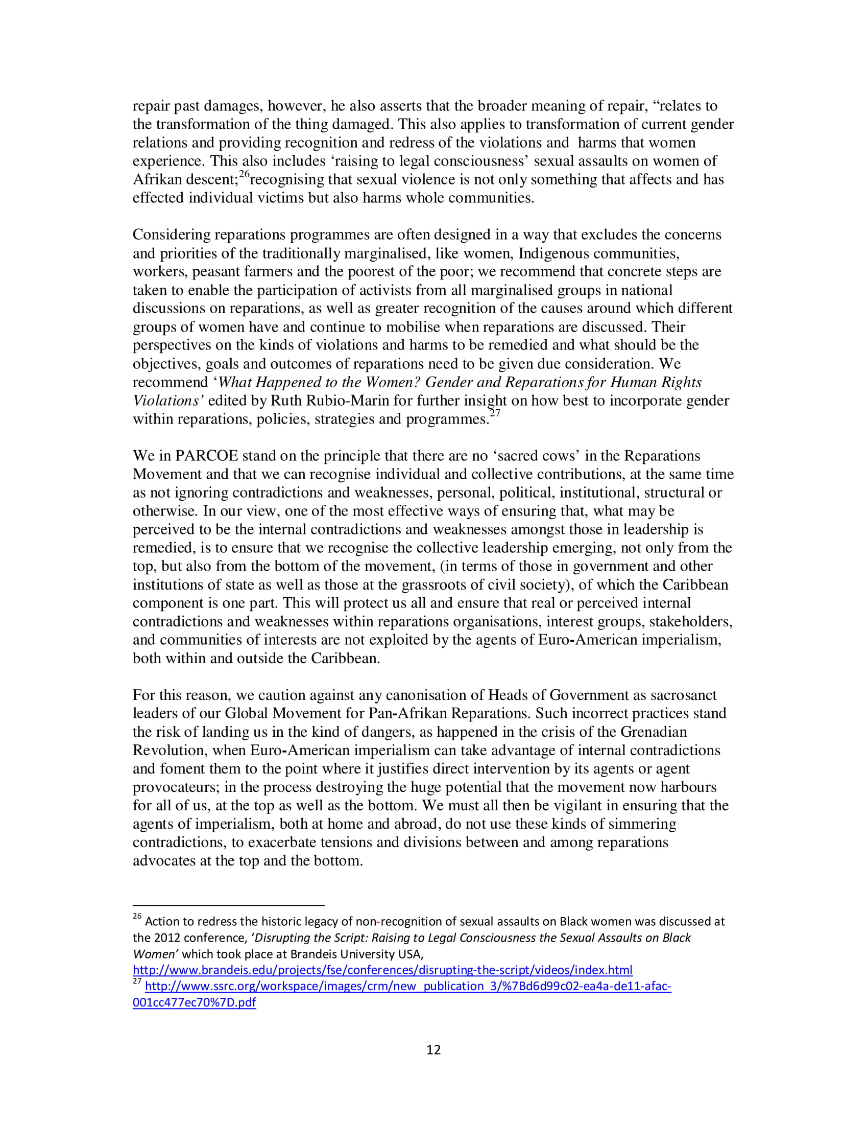 PARCOE CARICOM REPARATIONS POSITION PAPER-12