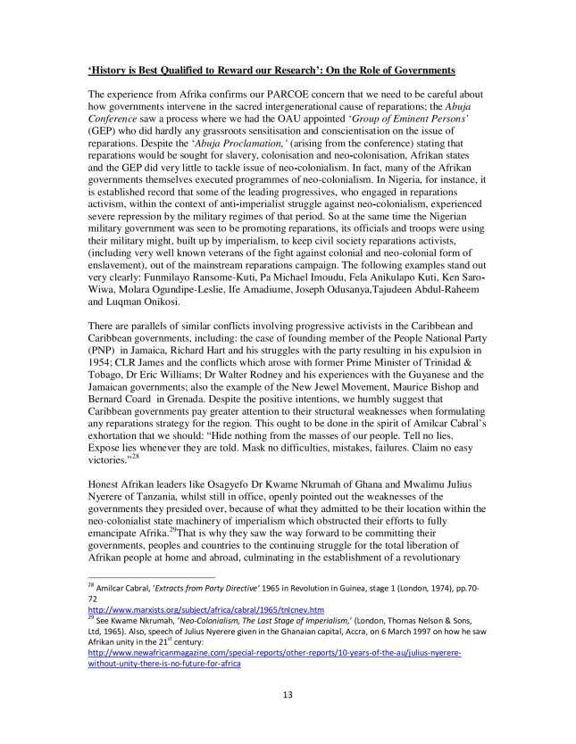 PARCOE CARICOM REPARATIONS POSITION PAPER-13