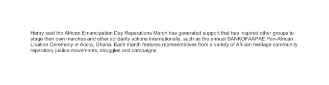 MIKE HENRY AFRIKAN EMANCIPATION DAY REPARATIONS MARCH-2 short